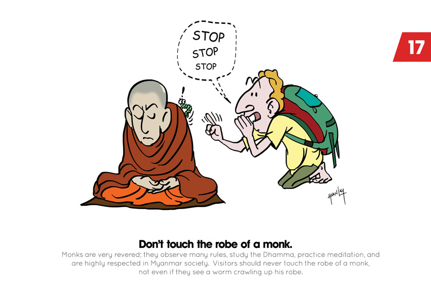 Don't touch the robe of a monk