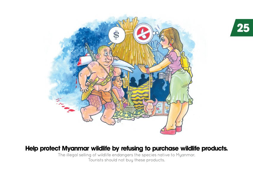 Help protect Myanmar wildlife by refusing to purchase wildlife products